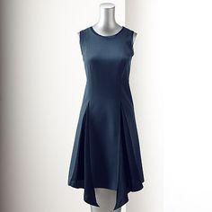 Simply Vera Vera Wang Solid Godet Dress - Women's