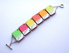 Pantone Bracelet Summery Citrus by Defenestration on Etsy, $45.00