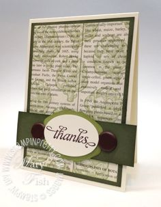 """I cropped the card base to 3 7/8"""" wide x 5 1/2"""" high.  This allows the sentiment to exceed the edges of the card (the sentiment banner is 4 1/4"""" wide) but still fit in a Stampin' Up! Medium Envelope."""