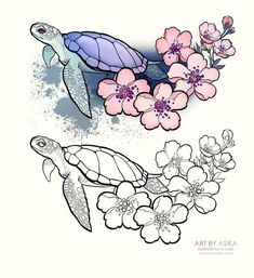 50 Arm Floral Tattoo Designs for Women 2019 - Page 19 of 50 tattoo - arm . Pencil Art Drawings, Art Drawings Sketches, Tattoo Sketches, Animal Drawings, Tattoo Drawings, Cool Drawings, Art Sketches, Nature Tattoos, Body Art Tattoos