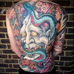 Great collcetion of Japanese Mask Tattoo designs ideas of 2019 for men and women to japan tattoo lover people. Japanese Demon Tattoo, Japanese Tattoos For Men, Japanese Tattoo Symbols, Japanese Tattoo Designs, Best Tattoo Designs, Hannya Maske Tattoo, Oni Mask Tattoo, Yakuza Tattoo, Samurai Tattoo