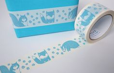Woodland Sticky Tape Printed Vinyl Tape with Fox by miristudio