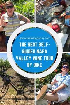 The best Napa wine tours are done by bike. Exploring Napa Valley by bike is an unforgettable experience and a unique way to see this famous wine region. Napa Valley Map, Napa Valley Wine, Visit California, California Travel, California Wine, Northern California, Usa Travel Guide, Travel Usa, Travel Tips