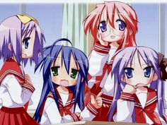 [Lucky Star Episode 1] *presses play* .............. WHAT AM I WATCHING