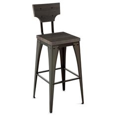 Amisco Station Metal and Wood Counter Stool - 17741456 - Overstock.com Shopping - Great Deals on Amisco Bar Stools