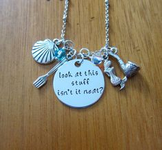 Im a huge Disney fan and was inspired to create a line of necklaces inspired by some of my favorites movies.    This was inspired by the song Part