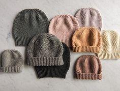 Fluffy Brioche Hat pattern by Purl Soho, un bonnet Fluffy Brioche Hat par Purl Soho. Crochet Dolls Free Patterns, Baby Knitting Patterns, Loom Knitting, Knitting Socks, Free Knitting, Knitted Hats, Blanket Patterns, Crochet Hats, Crochet Baby Bonnet
