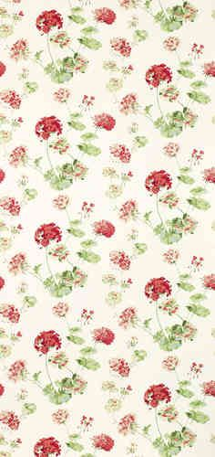 Laura ashley wisteria cranberry floral wallpaper eye - Telas laura ashley ...