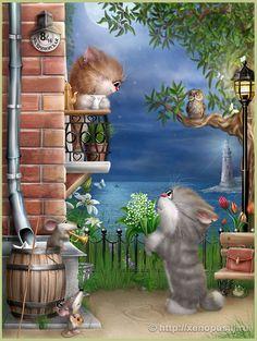 Милые картинки художника Алексея Долотова!.• ° ˛˚.*•。★˚