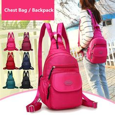 2ecab871a94c Women Nylon Casual Chest Bag Lightweight Backpack Shoulder Bags is Worth  Buying - NewChic Mobile.