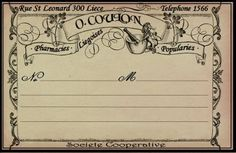 wonderful vintage style apothecary bottle label. free printable (personal use)