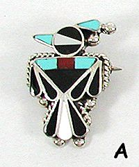Native American Thunderbird pin pendant