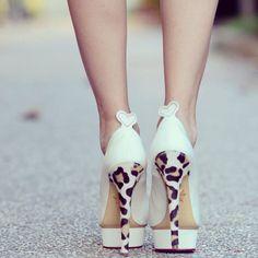 Love!! Cheetah heel and cream shoe