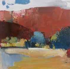 Santa Cruz oil on canvas 18x18 Randall David Tipton