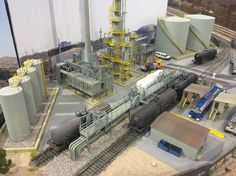 oil refinery #modeltraintablehowtomake