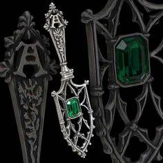 Goth:  #Absinthe ~ A Parisienne absinthe spoon, by Alchemy Gothic.