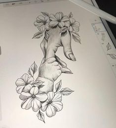 Pencil Drawings Of Flowers, Pencil Art Drawings, Cool Art Drawings, Doodle Drawings, Art Drawings Sketches, Mother Tattoos, Baby Tattoos, Body Art Tattoos, Tattoo For Son