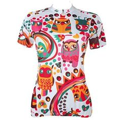 Animals Colorful Short Sleeve Outdoor Bicycle Cycling Jersey