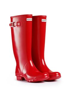 Gloss Wide Calf Rain Boots | Wide Fit Rubber Boots | Hunter Boots