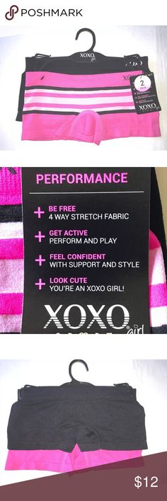 Girl's XOXO Girl 2 Pair Boyshorts Active Underwear XOXO Girl Two Pair Girl's Stretch Boyshorts Active Underwear Small 6/7  2 Pair stretch boyshorts active underwear 90% Nylon, 10% Spandex  Thank you so much! XOXO Accessories Underwear