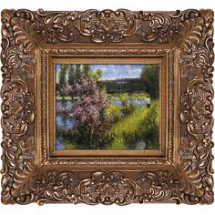 Found it at Wayfair - The Seine at Chatou by Renoir Framed Painting Print on Canvas