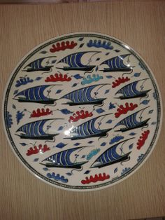 30 cm plate.handmade by Meral Cetin