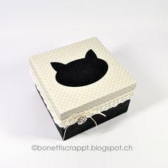 Geschenkbox mit Katze  / Silhouette Cameo