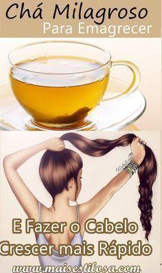 Chá Milagroso para Emagrecer e Fazer o Cabelo Crescer mais Rápido! #projetorapunzel #receitacaseira #diy #cháparaemagrecer
