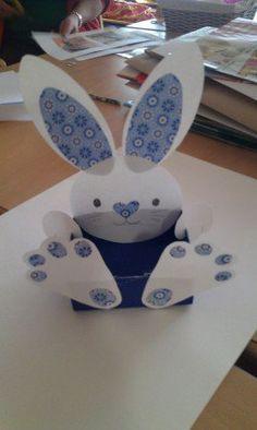 Paper Bunny   Easy DIY Easter Basket Ideas for Kids
