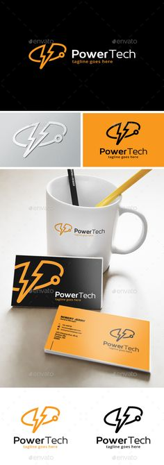 Power Tech Solutions Logo - Objects Logo Templates