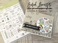 New host stamp set coming 1st June - it's a spinner card - click the link for more photos and see a little video #stampinup Sarah Lancaster