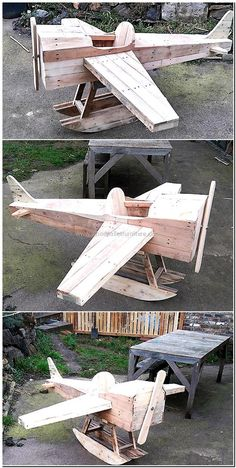 pallets made aircraft playhouse for kids