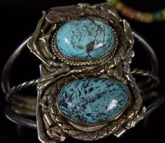 Authentic Navajo Handcrafted Spiderweb Turquoise Sterling Silver Cuff Bracelet. Find us on YELP. SNAKE BRACELET - There is a snake that winds its way through the Turquoise stones. Gorgeous Tall Turquoise Stones. | eBay!