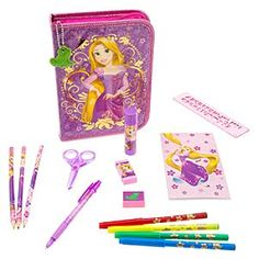 Disney Rapunzel Zip-Up Stationery Kit | Disney StoreRapunzel Zip-Up Stationery Kit - Inspire your own artistic princess with this Rapunzel Zip-Up Stationery Kit. The soft padded case opens to reveal 30 pieces, including 10 colored markers and 10 colored pencils, so she'll be able to draw on her  creative imagintion.