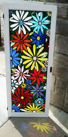 mosaic stained glass on old windows | Flower Mosaic Stained Glass Vintage Window. ... | Mosaics - Flowers
