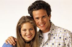 """Candace Cameron Bure reunited with Scott Weinger — who played D. Tanner's longtime beau Steve Hale on """"Full House"""" — Wednesday night, and fortunately there's an adorable photo to prove it. Scott Weinger, Dj Steve, Dj Tanner, Love The 90s, Candace Cameron Bure, Fuller House, Facts For Kids, Dating Tips For Women, Men Quotes"""