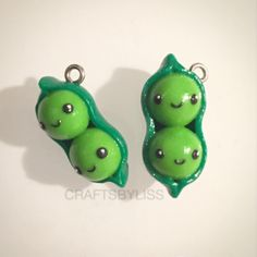 "So today I made a couple ""two peas in a pod charm"", sort of like a friendship thing I guess! A charm which you could buy yourself and a friend to show how close you guys are, you know, the friends in which your mum says ""Gosh, you're like two peas in a pod you two!"". Anyway, this charm was inspired by the one I saw on @polymerclay_charms_ ... Anyway, hope you all like them as much as I have enjoyed making them! Esty store link in my bio! #polymer #clay #polymerclay #charm #etsy #kering #key…"