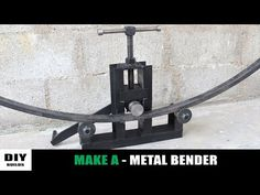 Hello Everyone! Today I show you how to make a metal bender. This one is a roller bender type metal bending machine. This homemade metal bender has 3 rollers. Metal Bending Tools, Metal Working Tools, Metal Tools, Welding Shop, Welding Tools, Welding Projects, Metal Fabrication Tools, Metal Bender, Sheet Metal Work
