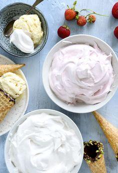 Guf til isvafler – nem og lækker opskrift på den hjemmelavet guf Sweets Cake, Cupcake Cakes, Sweet Recipes, Cake Recipes, Delicious Desserts, Yummy Food, Cooking Cookies, Danish Food, Cake Toppings