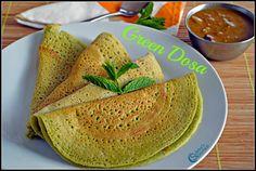 Mint, Coriander and Curry Leaves Dosa Recipe | Green Dosa Recipe | Subbus Kitchen