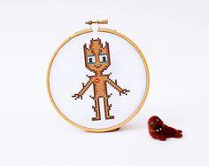 GROOT Cross stitch Pattern PDF   Boy Girl Superhero di POWSTITCH
