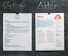 difference between a blah resume and a well designed resume