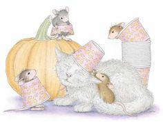 Cat&Mouse paintings. Halloween Mice - Ellen Jareckie
