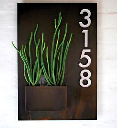 Potted @ Modernism Week + The Reveal Of Our New Product - City Planter with plexiglass house numbers