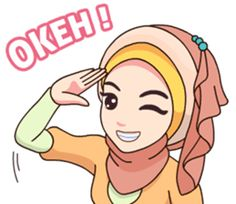 Hijab Kekinian – LINE Stickers | LINE STORE Love Cartoon Couple, Cute Cartoon Girl, Cute Love Cartoons, Emoji Pictures, Girly Pictures, Muslim Greeting, Hijab Drawing, Eid Greetings, Islamic Cartoon