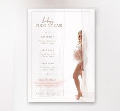 Baby's First Year Mini Sessions Marketing Board - Newborn Marketing - Photographer Templates