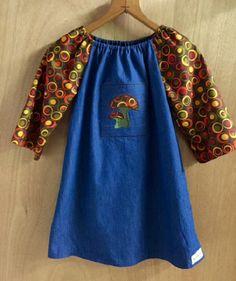 Denim Boho Dress, girls size 6 by SewMeems on Etsy