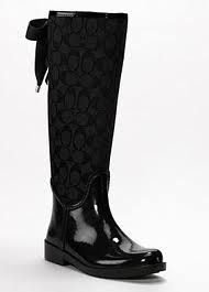 Gorgeous coach rain boots.....I added these beauties to my shoe collection...love