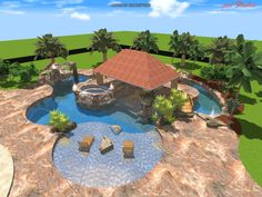 Lazy River Swimming Pool Designs find this pin and more on pools search results for lazy river plans Amazing Swimming Pool Design Ideas With Natural Green And Blue Water And Trees