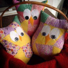 Vintage quilt top owls